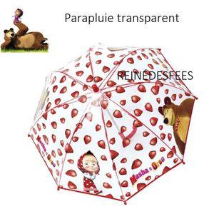 PARAPLUIE Masha et Michka joli parapluie enfant transparent