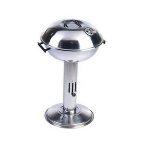 BARBECUE barbecue américain colonne inox couvercle rond