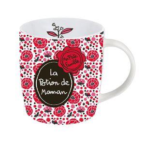 BOL Mug / Tasse LA POTION DE MAMAN En Porcelaine Rouge