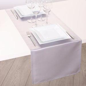 CHEMIN DE TABLE Chemin de table Satiné Argent - Couleur principale