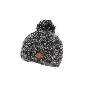 Bonnet noir pompon laine Wynt par R Mountain, bonnet ski original . d7a0158b794