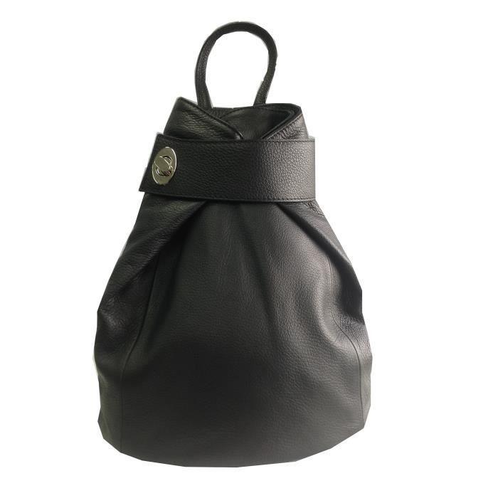 Sac à dos élégant en cuir italien, sac à main ou sac à bandoulière 1YCSPE