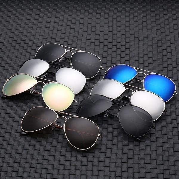 métal Unissex Proteção Feminino Colorido Óculos Acessórios de Redondo Espelhado Escuro f2429 Aviado Ultravioleta Óculos Sol oqR4XXKC