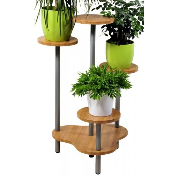 Support multiple pour 4 plantes hauteur 75 cm achat for Meuble 95 cm de hauteur