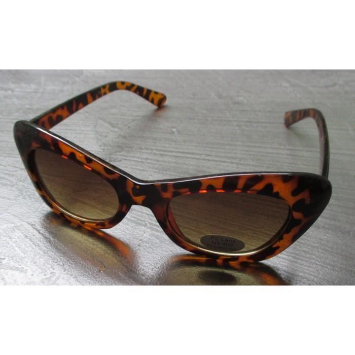 43afe815698187 Lunette de soleil femme petit cat eye leopard pin up - Achat   Vente ...