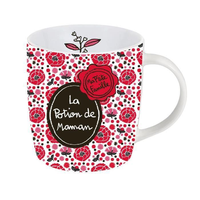 mug tasse la potion de maman en porcelaine rouge id e cadeau humoristique original femme. Black Bedroom Furniture Sets. Home Design Ideas