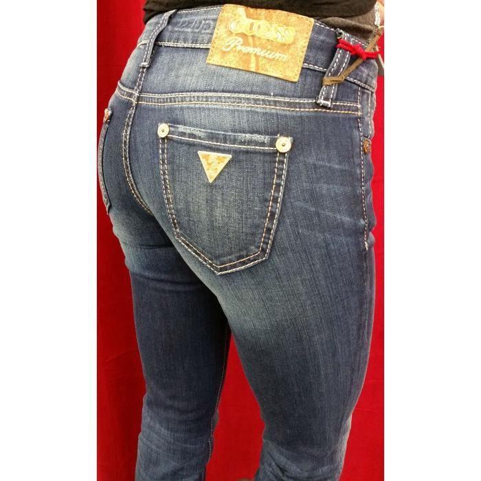 Fonce Guess Coupe Jeans Femme Droite Nicole Bleu Ajustée wpRv0SxqF