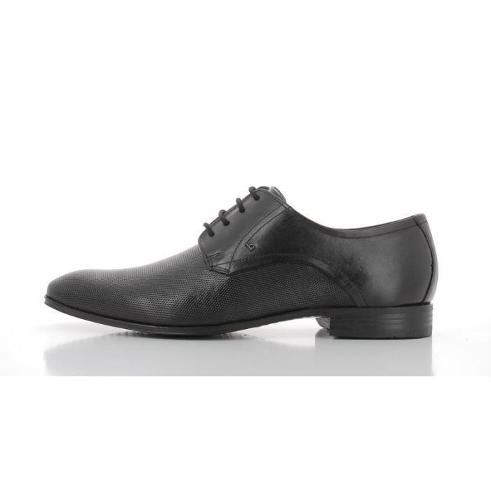 Chaussures De Ville Bugatti En Cuir Ref_Bug37869-Noir TeLgL9RX0