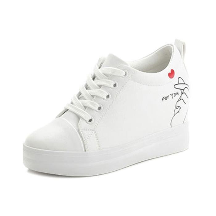 Lacet Chaussure Baskets Compensé Sneaker 7 Femme Tennis Talon Cm zMLSqUVpG