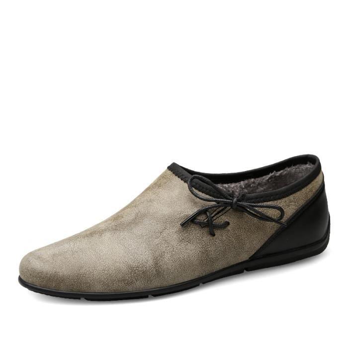 Bateau Homme Bateau mode Bateau hiver Bateau avec coton Bateau conduit Bateau en pu Chaussures de ville Chaussures plates