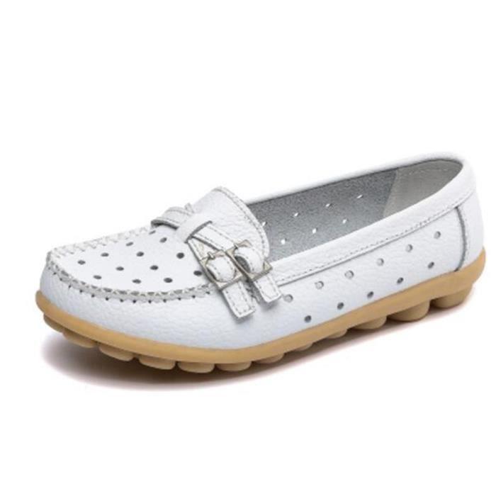 chaussure femmes Marque De Luxe chaussures 2017 ete Nouvelle Mode Qualité Supérieure Moccasins à plateformes Grande Taille Xl89Hd