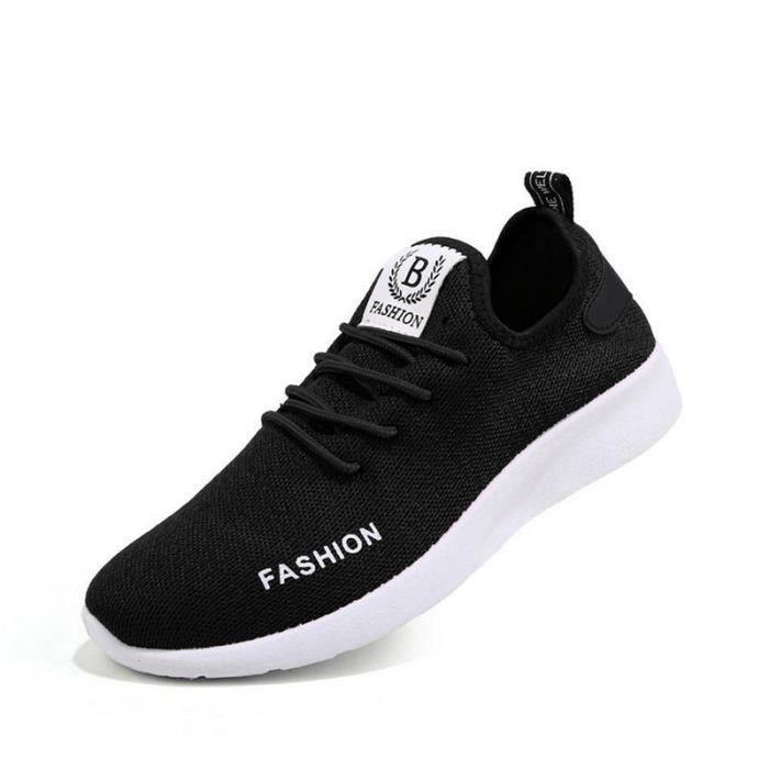 140f5a389622c Baskets hommes Confortable Respirant Chaussures de sport 2019 ...