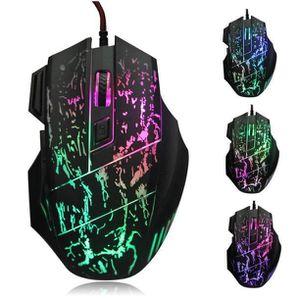 SOURIS 5500 DPI coloré LED optique USB filaire souris PRO