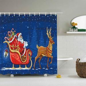 RIDEAU DE DOUCHE Bonhomme de neige de Noël imperméable rideau de do