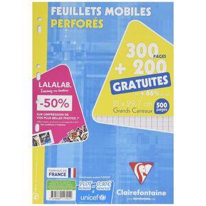 FEUILLET MOBILE ClaireFontaine - Réf 11791C - Un Étui Carton de 30