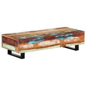 TABLE BASSE Table basse 120x50x30 cm Bois de récupération et a