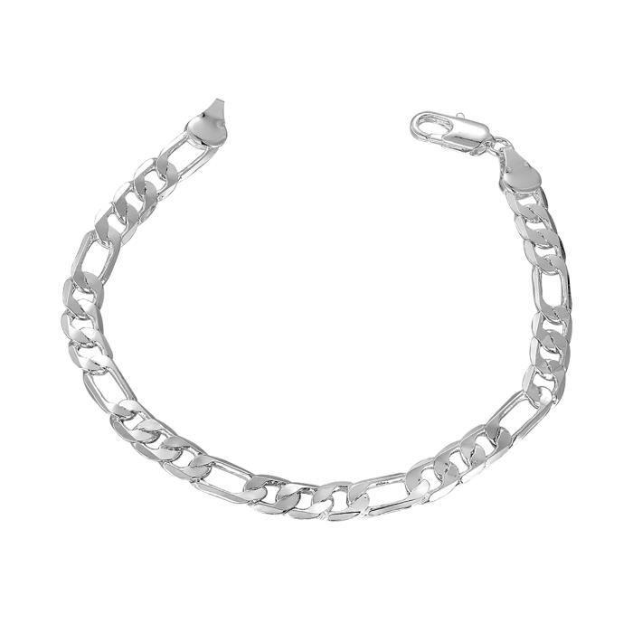dernière remise braderie prix plus bas avec Plaqué Argent Bracelets pour les hommes