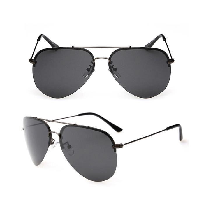 a77536b5a10cf lunettes de soleil Retro Vintage Hommes Femmes Polarized Aviator style  Goggle Cadres Gyurt verre noir