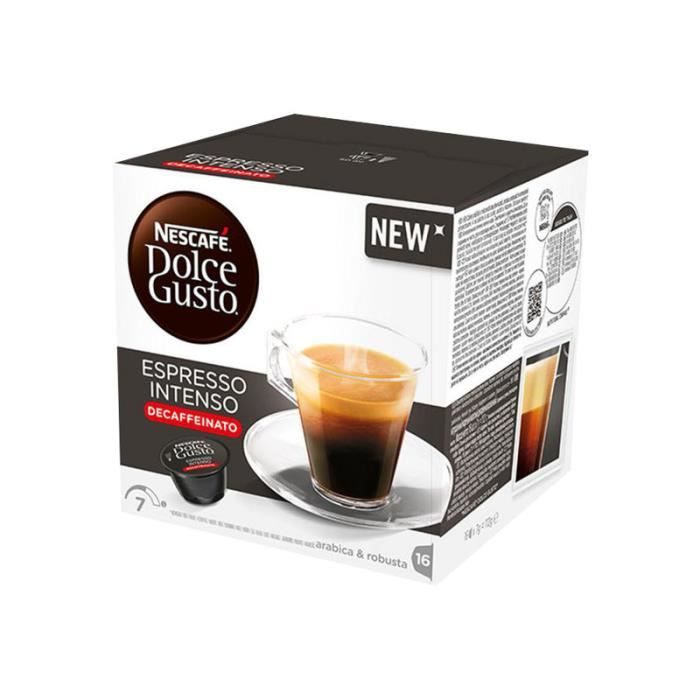 dolce gusto capsule cafe decafeine - achat / vente dolce gusto