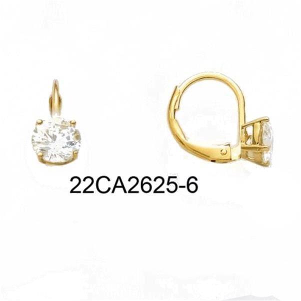 boucles d 39 oreilles dormeuse plaqu or et zirconium achat vente boucle d 39 oreille boucles d. Black Bedroom Furniture Sets. Home Design Ideas
