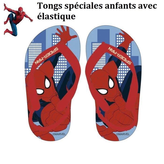 Tong garçon 24 avec élastique Spiderman chaussure à NY été