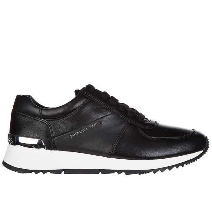 Chaussures baskets sneakers femme en cuir allie Michael Kors
