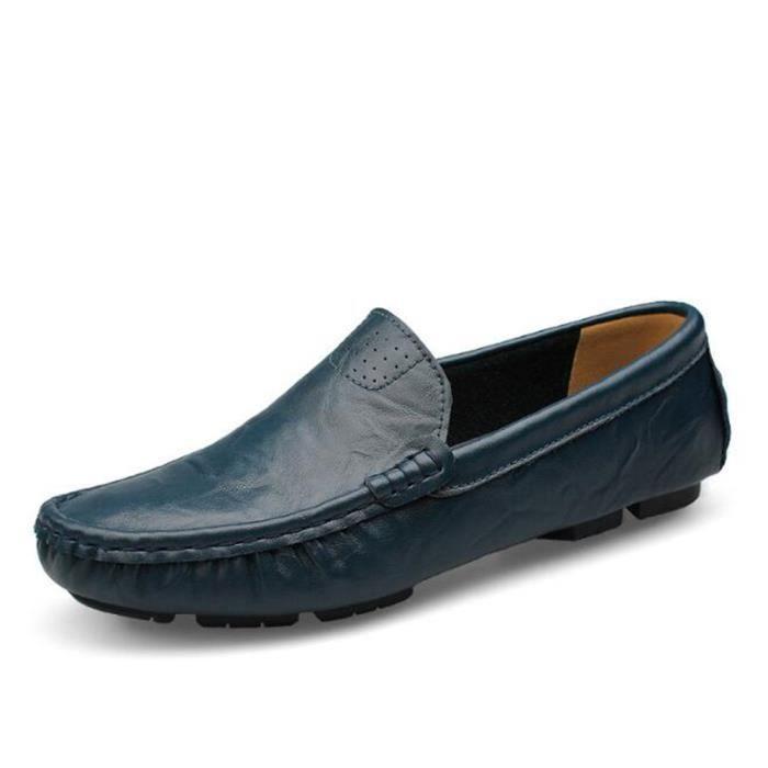 chaussure homme en cuir De Marque De Luxe 2017 ete Nouvelle Mode Confortable Moccasin hommes Loafer Grande Taille Moccasins 36-50