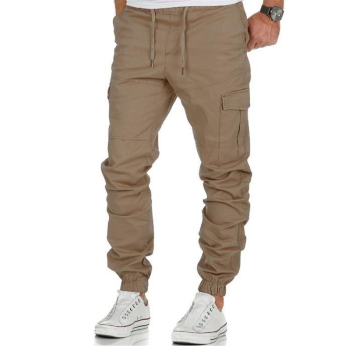 d0df3e87d34ab Pantalon cargo homme taille elastique - Achat / Vente pas cher