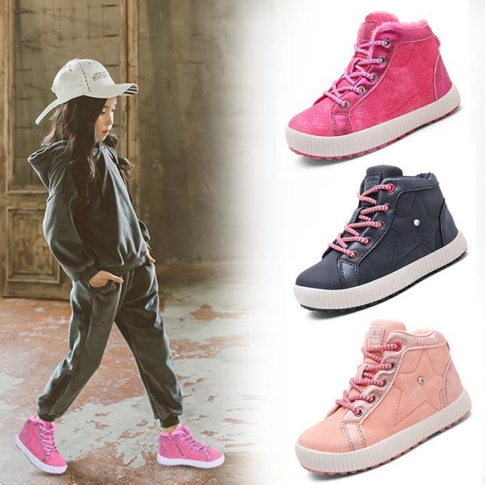 sélection premium b0956 dee5a Mode Enfants Hiver Chaussures Baskets Enfant Sport Chaussures Garçons Filles