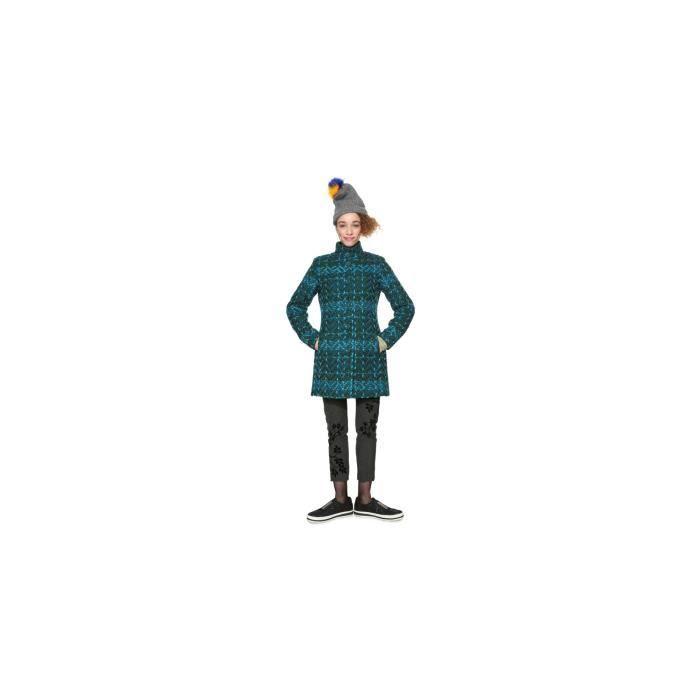 Manteau femme bleu vert