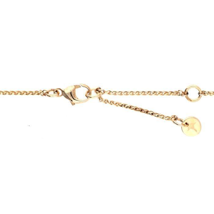 Joop Femmes collier argent or rose Extreme Pavée JPNL90750C420