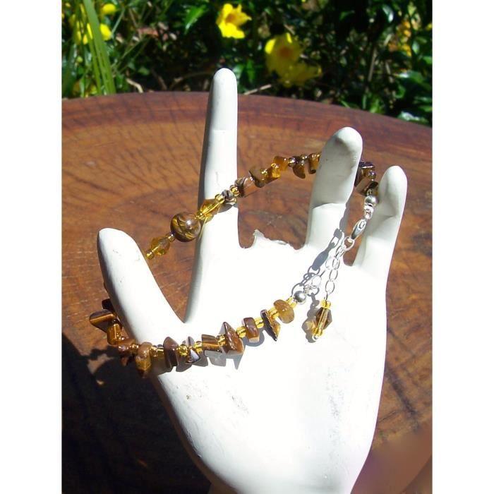 Brown femmes et trois médailles dor Piece Set, collier, bracelet et boucles doreilles. SG1P5