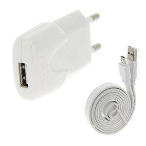 CHARGEUR TÉLÉPHONE Pour ALCATEL OT 282 : Chargeur & Câble Usb Blanc 1