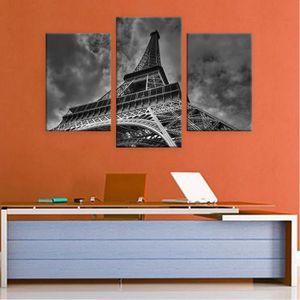 TABLEAU - TOILE The Eiffel Tower Paris Split 3 Panels IMPRIMER Sur