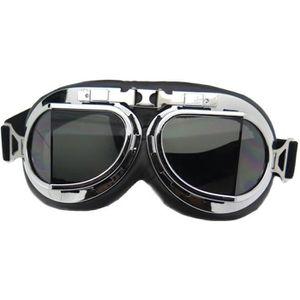 LUNETTES - MASQUE lunette moto aviateur vintage retro teinte side ca