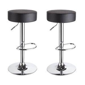 interesting tabouret de bar set de tabourets de bar similicuir noir hauteur with c discount. Black Bedroom Furniture Sets. Home Design Ideas