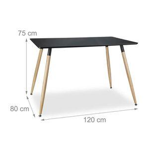 TABLE À MANGER SEULE Table salle à manger salon style nordique 120 x 80