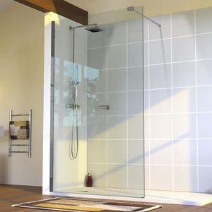 Paroi de douche 100 cm achat vente pas cher - Porte de douche avec paroi fixe ...