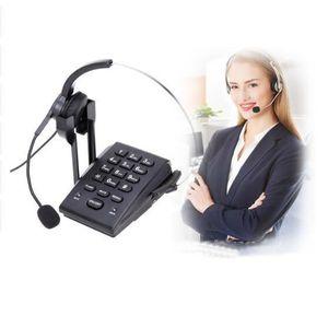 Téléphone fixe HT300 Mains-livraison Business Filaire Fixe Casque