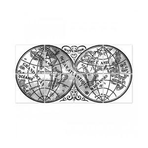 STICKERS Stickers pour Carrelage Noir et Transparent Mappem