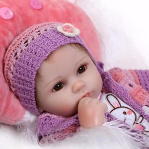 POUPÉE Poupées de bébés reborn 42CM Silicone pour filles