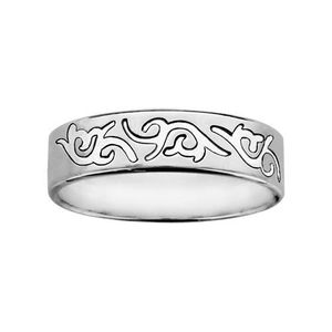 ALLIANCE - SOLITAIRE ALLIANCE HOMME FEMME 6mm TRIBAL ARGENT