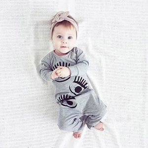 de7f8a777c697 Tout-petit bébé nouveau-né Garçons Filles yeux Print Romper Jumpsuit ...