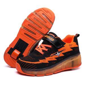 SKATESHOES Baskets Enfants Chaussures à Roulettes USB Charge