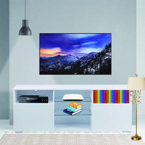 MEUBLE TV meuble TV stable 146x53x35cm haute brillance unité