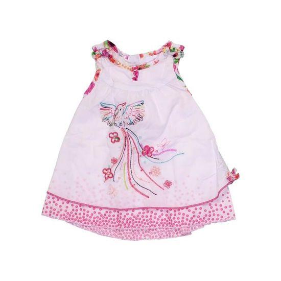 ece12ea8c6ef1 Robe bébé fille C A 3 mois blanc été - vêtement bébé  1058320 Blanc ...