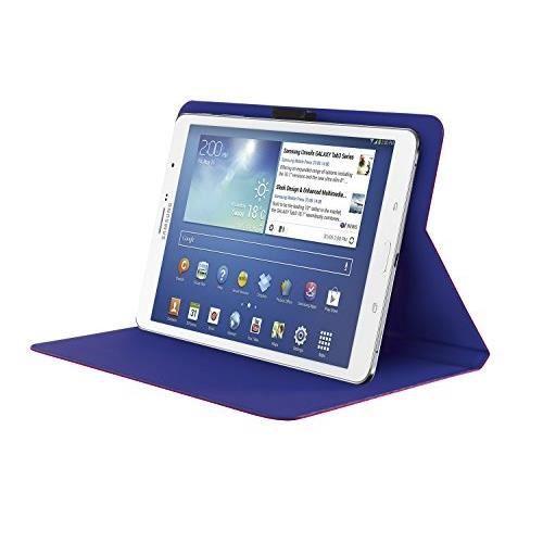 """TRUST Aeroo Étui Folio Univ pour Tablette 7/8"""" - Rose et bleu"""