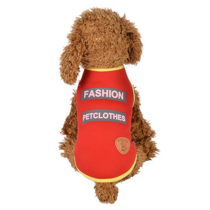 Vêtements Pour Animaux Chiot Col Rond Chemise Santé Gilet Mode @balenced18774