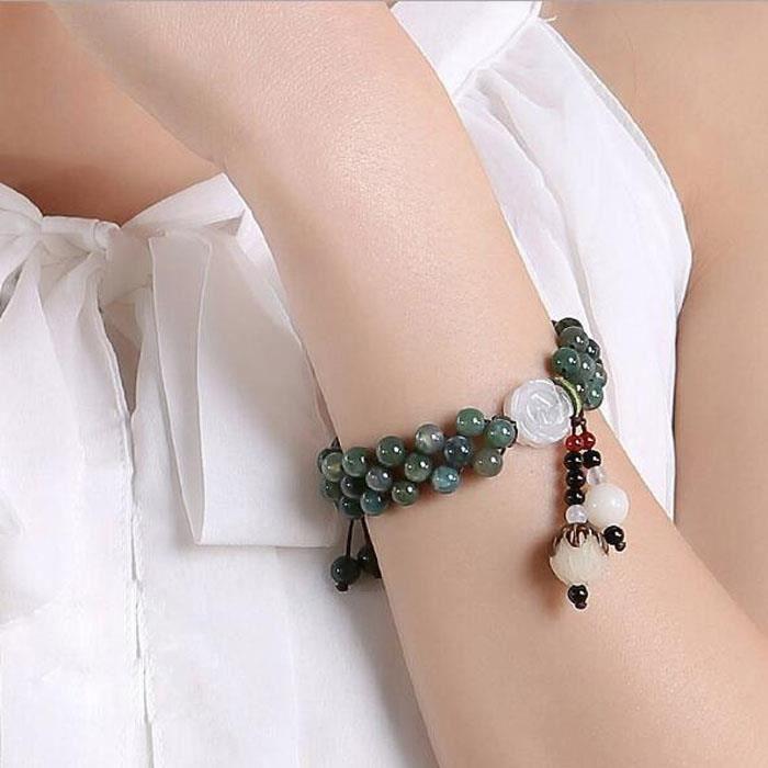 Bracelets Yanyu Lou Lan plantes vent nationale agate bracelets bracelet en perles bijoux de mode