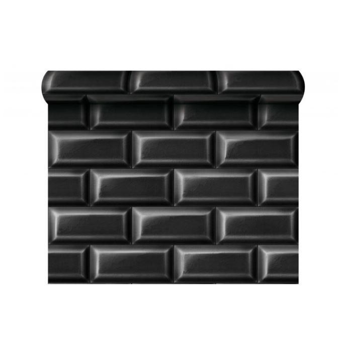 papier peint carrelages de m tro noire achat vente papier peint papier peint carrelages de. Black Bedroom Furniture Sets. Home Design Ideas
